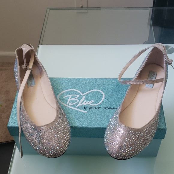 ccd9e33df786 Betsey Johnson Shoes - Blue by Betsy Johnson sparkling flats